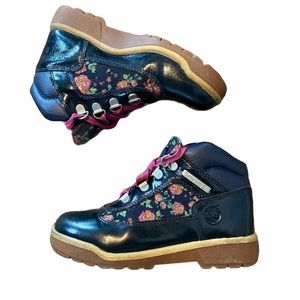 Timberlands floral and patent leather size 13